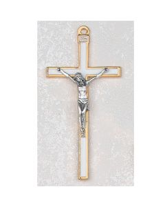 WHITE  Communion CRUCIFIX