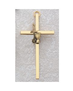 BRASS COMMUNION CROSS