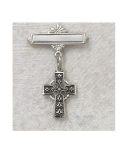 Celtic Cross Baby Bar Pin