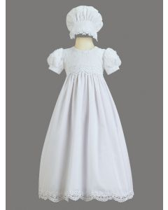 Kiera Cotton Christening Gown