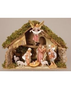 Fontanini Nativity Set With Stable 7.5""