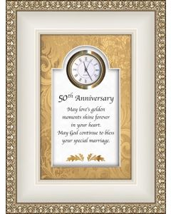 50th Anniversary Tabletop Christian Clock