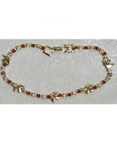 CRYSTAL AND RED DOVE  Confirmation BRACELET