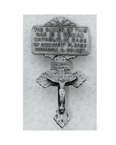 Crucifix Visor Clip - Silver