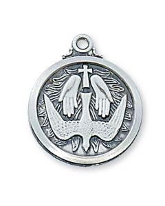 HOLY SPIRIT Confirmation w/chain Sterling Silver
