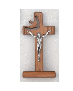 WALNUT CUT OUT HOLY SPIRIT Confirmation CRUCIFIX