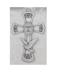 HOLY SPIRIT CONFIRMATION CROSS - Pewter