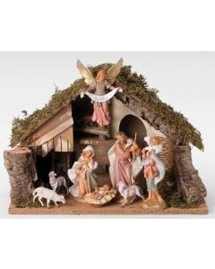 Fontanini Nativity Set with Stable 8 pc.