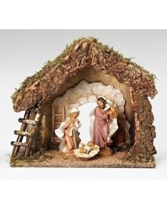 Fontanini Holy Family with Italian Stable 3 Pc.