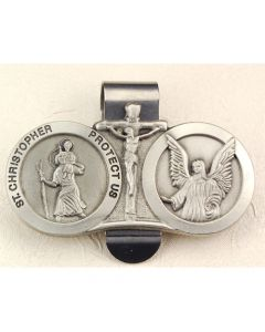 ST. CHRISTOPHER/GUARDIAN ANGEL VISOR CLIP