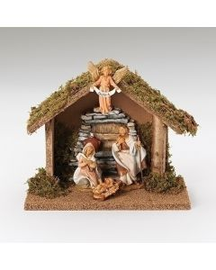Fontanini Holy Family Nativity with Italian Stable