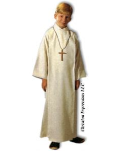 Front Wrap Cassock Alb for Boys and Girls 558