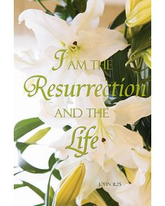 I Am The Resurrection And The Life Easter Banner