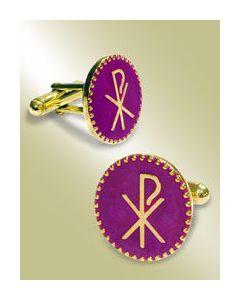 Cuff Link - Chi-Rho Symbol