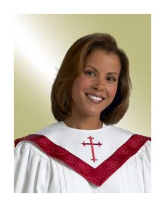 Reversible Choir Stole White / Vermillion