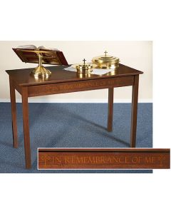 Silk-Screened Communion Table Solid Maple