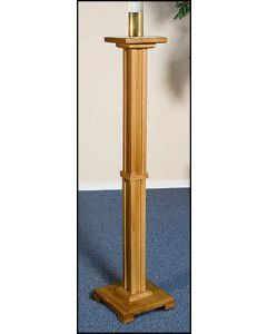 Pascal Church Candleholder Pecan Finish