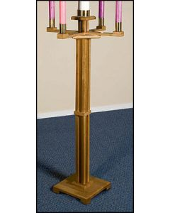 Church Advent Candle Holder Pecan