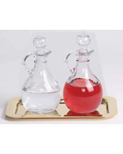 Glass Cruet Set with Tray