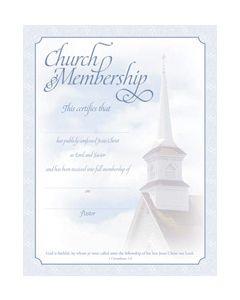 Membership Certificate - Premium, Silver Foil Embossed