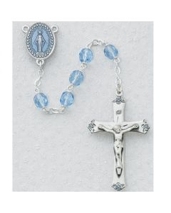 Blue Glass Rosary Beads SS