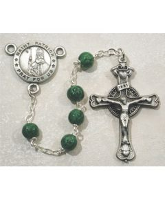 Irish Rosary Beads PEWTER ST. PATRICK