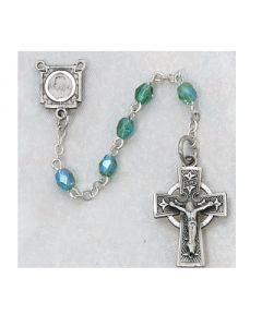 Irish Rosary Beads Green Aurora