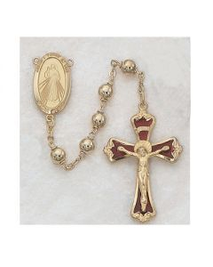 DIVINE MERCY ROSARY BEADS G/SS