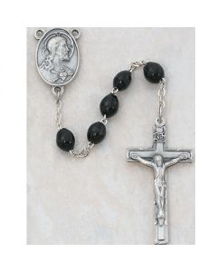 Men's  WOOD ROSARY BEADS SS