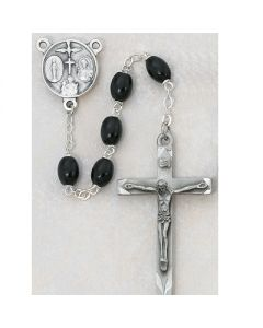 Men's BLACK WOOD ROSARY BEADS
