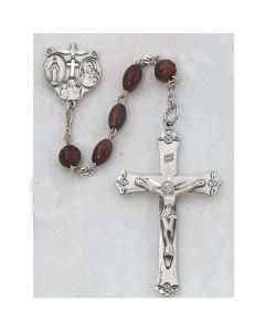 Men's BROWN COCOA ROSARY BEADS SS