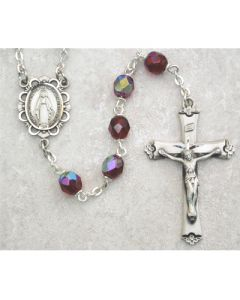 BIRTHSTONE ROSARY BEADS SS  ALL 12 COLORS AVAILABLE