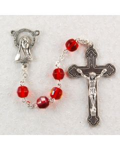 Red Aurora Rosary Beads