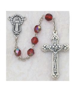 BIRTHSTONE ROSARY BEADS AURORA GLASS - ALL 12 COLORS AVAILABLE