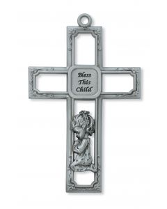 Pewter Baby Girl Cross