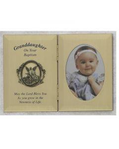 DOUBLE GRANDDAUGHTER BAPTISM PHOTO PLAQUE