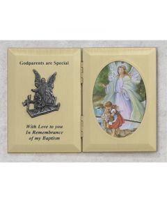 Double Baptism Photo Frame Guardian Angel