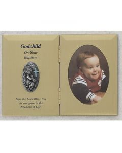 DOUBLE GODCHILD BOY BAPTISM PHOTO PLAQUE