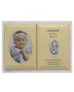 DOUBLE GOD CHILD GIRL BAPTISM PHOTO PLAQUE