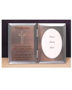 DOUBLE SILVER GODFATHER  PHOTO PLAQUE