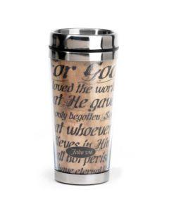 For God So Loved the World Stainless Steel Christian Travel Mug