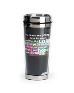 For I Know the Plans Stainless Steel Christian Travel Mug