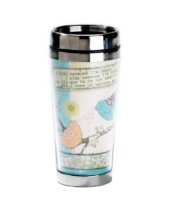 His Eye is on the Sparrow Stainless Steel Christian Travel Mug