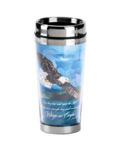 On Eagles Wings Stainless Steel Christian Travel Mug