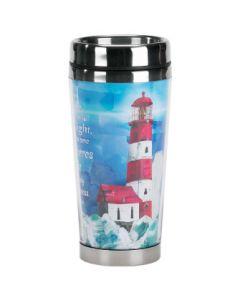 Lighthouse Stainless Steel Christian Travel Mug