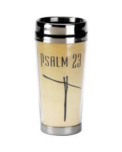 Psalm 23 Stainless Steel Christian Travel Mug