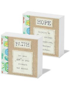 PLAQUE MDF HOPE-REJOICE IN HOP