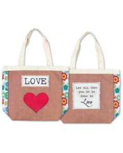 TOTE CANVAS LOVE LET ALL THAT