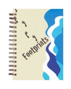 JOURNAL FOOTPRINTS SPIRAL BND
