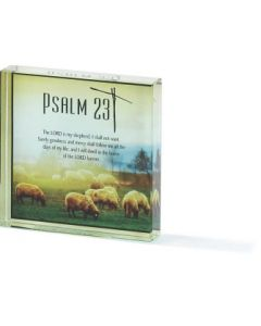 TABLE GLASS-3X3-PSALM 23